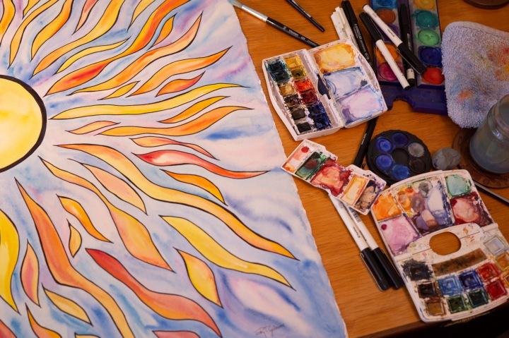 The Sun PaintingProject